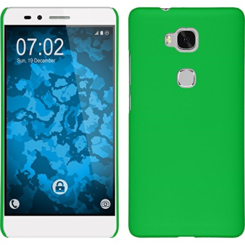 PhoneNatic Case kompatibel mit Huawei Honor 5X - Hülle grün gummiert Hard-case Cover 5 X Hard Case
