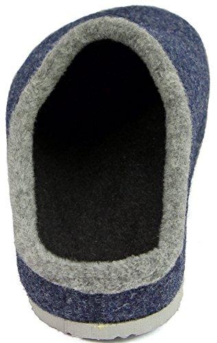 Pantofole Adulto Feltro Scarpe Blu Unisex Plantare 6CdOW8qw