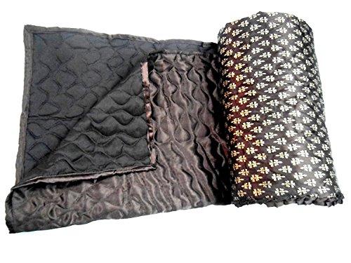 Shopnetix Jaipuri Light weight SILK Traditional Rajasthani Mugal Jaal Gold Print Brown Color Single BED Quilt /Rajai