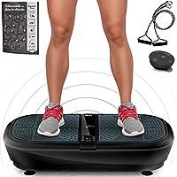 Sportstech Plataforma vibratoria para Adelgazar VP300 con tecnología de vibración Espiral 3D, música por Bluetooth