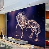 Wolipos 3D Wandmalerei Wand-Aufkleber Tapete Wandtattoo Kundenspezifisches Foto-Pferd, Das Fernsehhintergrund Malt Hd Dekoration 400Cmx300Cm