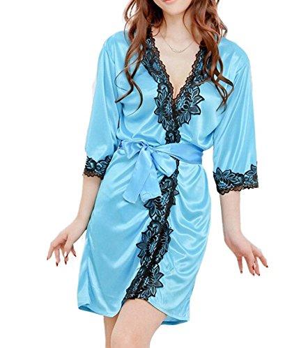 Women Role-playing Sexy Lingerie Wild Temptation Nightwear (Blue)