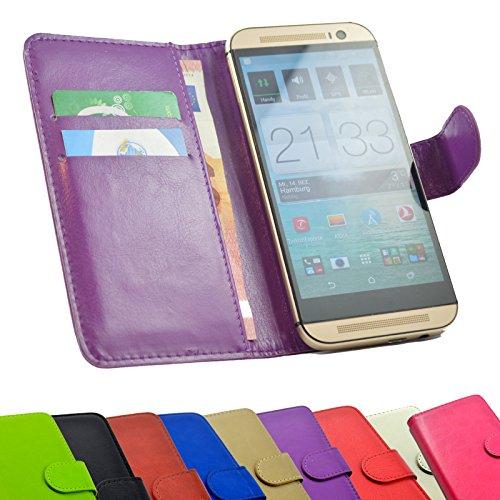 ikracase 2 in 1 set MEDION Life P5004 Smartphone - Handyhülle Handy Tasche Slide Kleber Schutz Case Cover Etui Schutzhülle Handytasche Book Style + Touch PEN in Violett Farbe