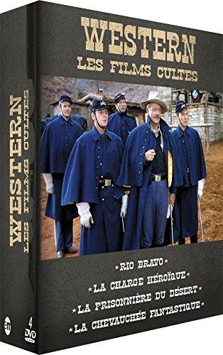 Bild von Coffret western vol.3 : rio bravo ; la prisonniere du desert ; la charge heroique ; la chevauchée fantastique [FR Import]
