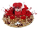 #9: Loops n knots Little Heart Wedding/Engagement Ring Platter/Holder