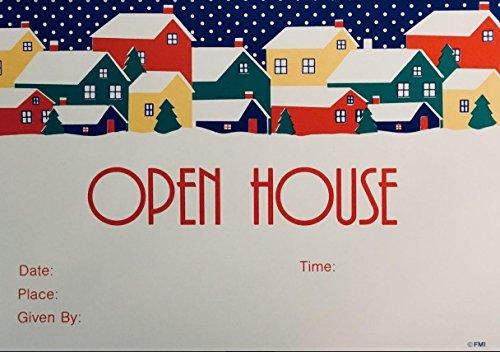(13) Colorful Open House Postkarten für Bewirtung -