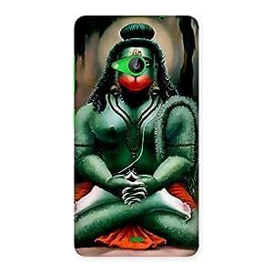Enticing Hanuman Ji Back Case Cover for Lumia 535