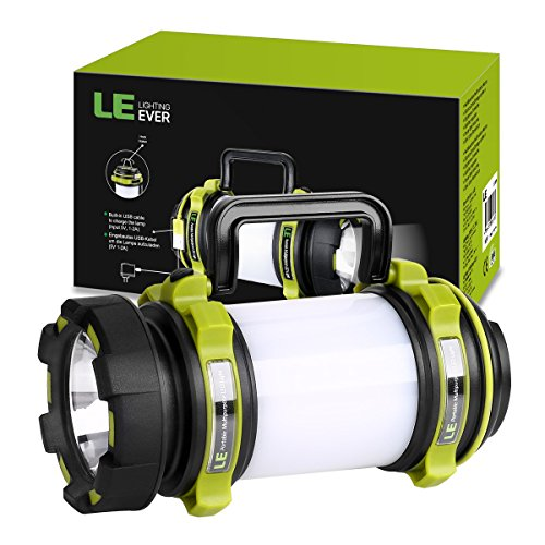 51hr79AJmGL. SS500  - LE Rechargeable CREE LED Torch, 500 Lumen Camping Lantern, Water Resistant Outdoor Searchlight for Emergency, Fishing, Hiking, Power Cuts and More