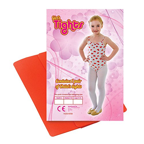 2a Kinder Strumpfhosen Rot 4/6Small, One size (Kobold Kostüm Kleinkind)