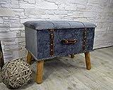 Livitat® Hocker Polsterhocker Suitcase Pouf Truhe Staufach Truhenbank Sitzbank Ottomane LV2084