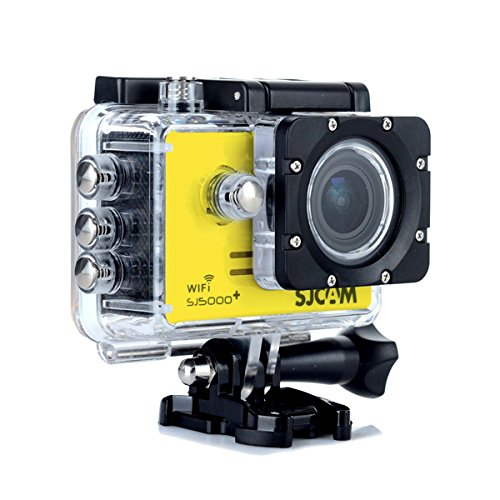 SJCAM SJ5000 Plus 16 MP WiFi Acción HD Cámara Ambarella A7LS75 impermeable – amarillo