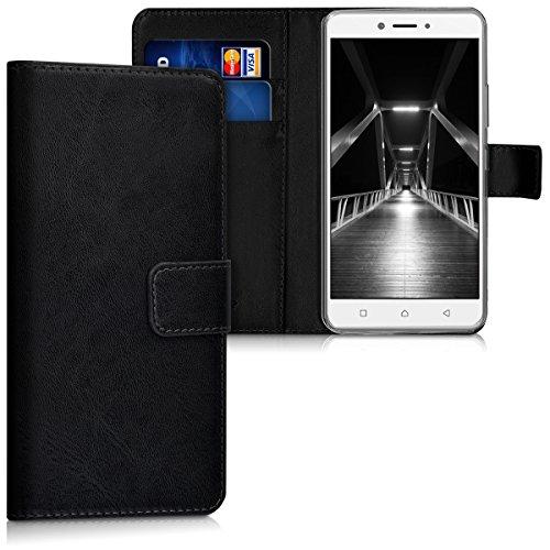 kwmobile Lenovo K6 Note Hülle - Kunstleder Wallet Case für Lenovo K6 Note mit Kartenfächern und Stand