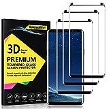 4youquality - Protector de Pantalla para Samsung Galaxy S8 Plus S8+ (3 Unidades, Cristal Templado, Cobertura máxima) (Resistente a los arañazos)