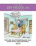 Widder 2019: Sternzeichenkalender-Cartoonkalender als Wandkalender im Format 19 x 24 cm.