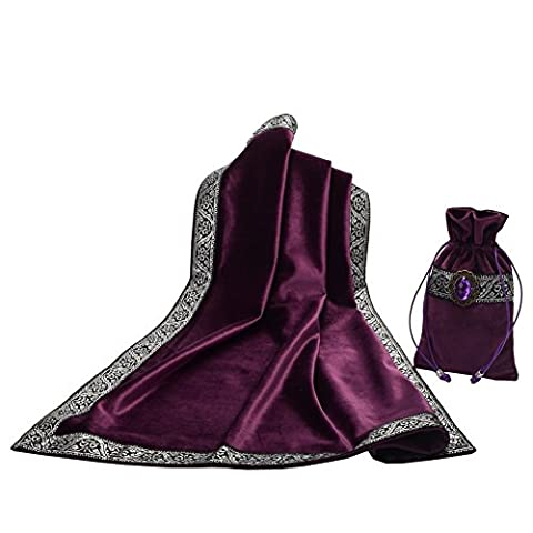 BLESSUME Altar Tarot Table Cloth with One Pouch