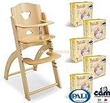Offerte a pacchetto Seggiolone in legno PALI modello PAPPY RE...