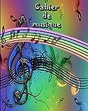 Cahier de musique: 90 pages 11 portées
