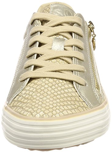 s.Oliver Damen 23615 Sneaker Beige (Dune/Gold)