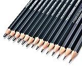 Foreverweihuajz vente. 14pcs Professional Art Sketch Lot de crayons (12B 10B 8B 7B 6B 5B 4B 3B 2B 1B HB 2H 4H 6H) étudiants Dessin Outil de peinture Ensemble de–Noir 1 Noir