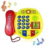 BIYASO Musik-Telefon-Spielzeug, für 12-36 Monate, für Jungen, Mädchen, Kinder - gelb