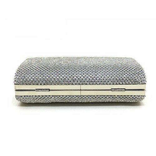 Frauenabendtasche Diamant Handtasche Luxus-Diamant-Paket White