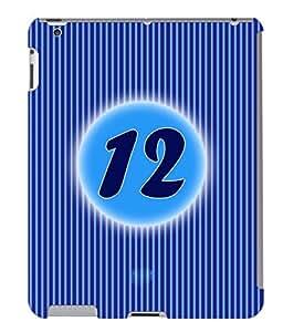 Fuson 3D Printed Numerology Designer back case cover for Apple iPad 4 - D4230
