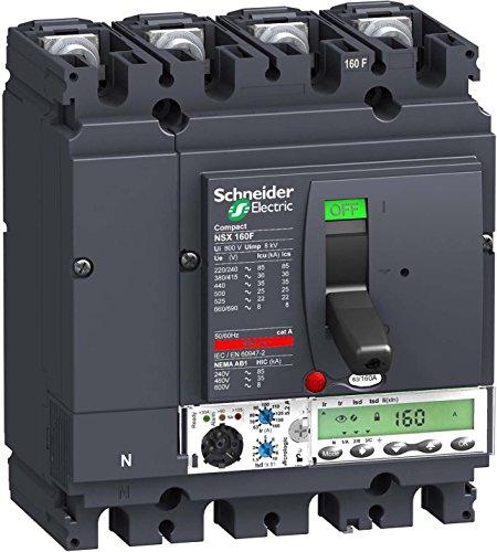 Schneider LV430895 4p4DMicrologic 5,2A 160A NSX160N kompakter Leistungsschalter - Pole Leistungsschalter