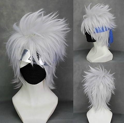 CoolChange perruque de Kakashi Hatake de la série Naruto, blanc
