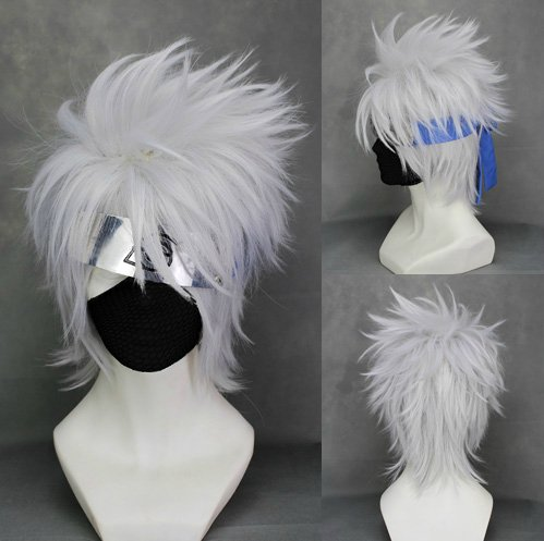 chwertige Kakashi Hatake Perücke (Kakashi Cosplay Kostüm)
