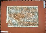 Karte Karawanken Wollan Karl der Farbe1911 Baedeker-Atlas