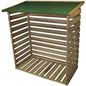 Woodside Treated Wooden Heavy Duty Log Store Garden Storage Shed