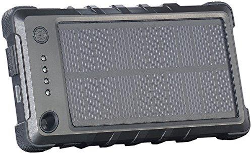 reVolt USB Solar Powerbanks: Solar-Powerbank, stoß- & wetterfest, PB-40.s, 4.000 mAh, IP65 (Powerbank Solar-Panel) - Solarenergie-handy-fall