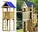 bambus-discount.com Spielturm System Winnetoo, Starterset Kletterturm Basis mit 113x113x350cm - Kinderspielgeräte für Garten, Spielgeräte für Kinder, Spielturm, Spieltürme
