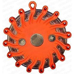 LED emergencia peonzas Naranja con batería. Calidad Profesional. Super regalo Idea–Crédito regalo de cumpleaños o regalo de Navidad para conductores