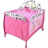 سرير و قفص لعب للاطفال من جولدن تويز ، لون بني ، 55114