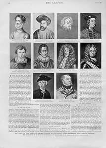 10 Ehemalige Alte Drucke Herzog-Of York 1893 Porträts