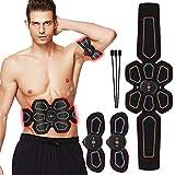 ZunBo Elettrostimolatore Muscolare EMS Stimolatore Muscolare USB Ricaricabile,Professionale Cintura per Addominali con stimolazione Muscolare Uomo Donna, 6 modalità e 10 Frequenza.