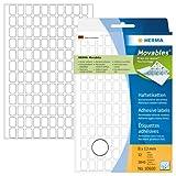 Herma 10600 Vielzweck Etiketten ablösbar ohne Rückstände (8 x 12 mm) weiß, 3.840 Klebeetiketten, 32 Blatt Papier matt, Handbeschriftung