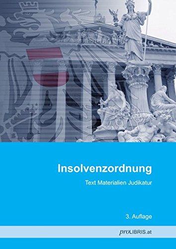 Insolvenzordnung: Text Materialien Judikatur