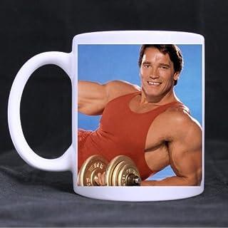 Special Magic Gift For Christmas / New Year / Birthday - Ceramic Morphing Mug - Funny Design Arnold Schwarzenegger Body 11OZ/100% Ceramic Custom