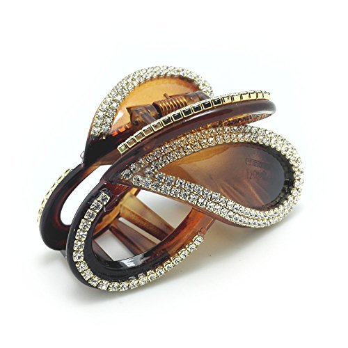 meilliwish-diamond-butterfly-hair-clip-claw-d14brown