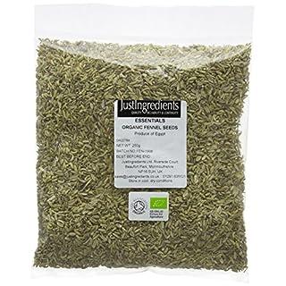 JustIngredients Essentials Organic Fennel Seeds 250 g, Pack of 2