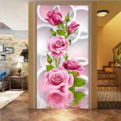 5D DIY Anstrich Rose Blume 3D Kreuz Stich Diamant Stickerei flores Aufkleber Stickerei Diamanten Wand (Diamant-stich)