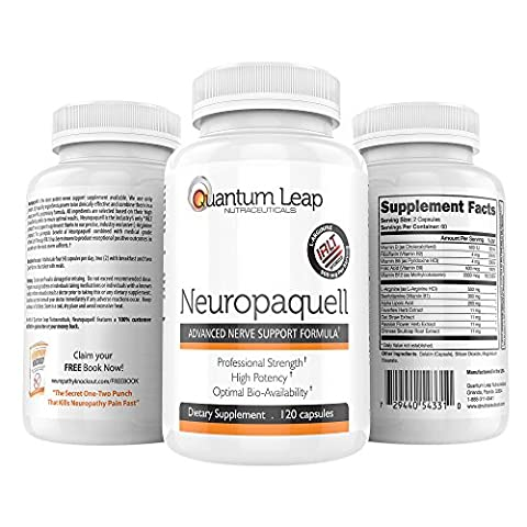 Quantum Leap Nutraceuticals Neuropaquell Clinical Strength Neuropathy Pain Relief Advanced Nerve Support Formula