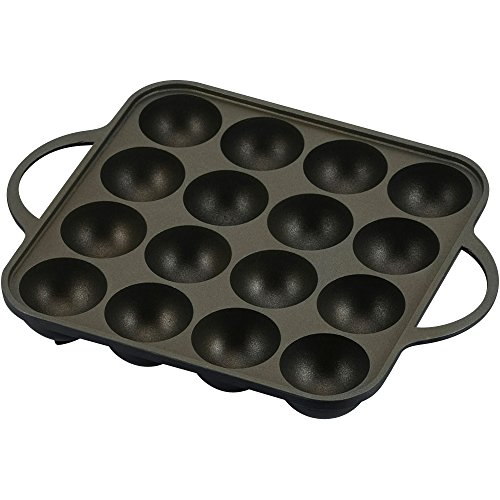 Takoyaki Plate for Grill YR-4259 16pieces aluminum (japan import)