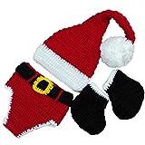 Niedlichen Neugeborenen Häkelarbeitknit Kostüm Fotografie Prop Hut Outfit Weihnachten