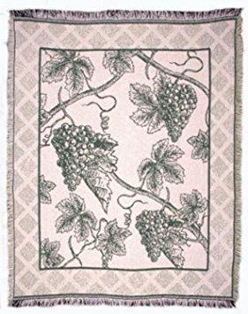 Ernte der Vine Trauben ECO2Baumwolle Überwurf gewebte Decke USA Made -