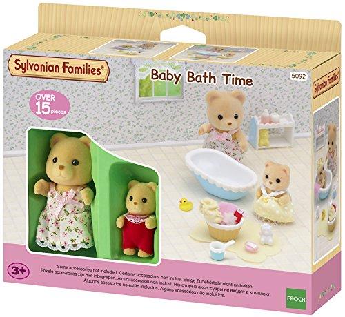 SYLVANIAN FAMILIES- Baby Bath Time Mini Muñecas y Accesorios, (Epoch para Imaginar 5092)