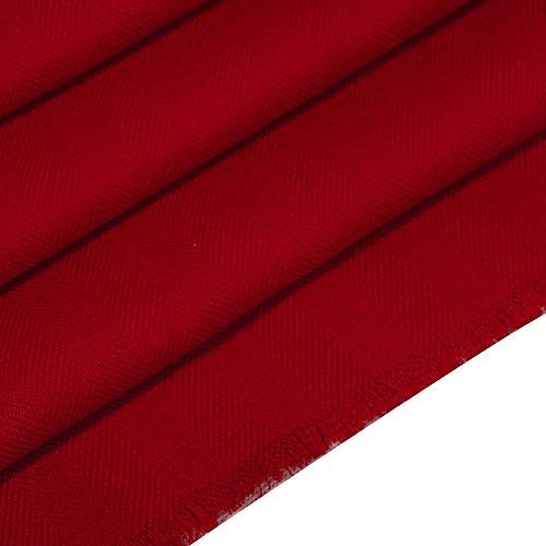 IRRANI laine châle hiver chaud pashmina écharpe pour femme Rouge