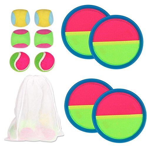Youth Union Werfen und Fangen Sportspiel Set mit Paddel Runde Tennis Spielzeug Ball Toss und Catch Familie Spiel Bat Ball-Spiel-Set Indoor Outdoor Für Kinder und Erwachsene - Outdoor-spiel-set